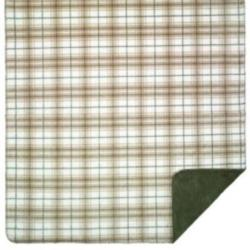 Denali Tartan Plaid Stone Microplush ® Blanket