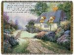 SALE Cottage Path Blessing of Ireland Tapestry Throw