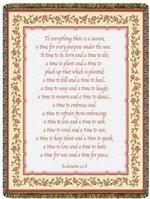 A Time To, Ecclesiastics 3:1-8 Tapestry Throw