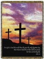 For God So Loved John 3:16 Tapestry Throw