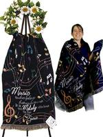 Music Touches Comfort Wrap