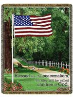 Blessed Are The Peacemakers Matthew 5:9 Tapestry Throw