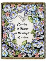 Carried To Heaven Tapestry Throw