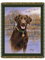 Companion Chocolate Lab Tapestry Throw