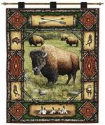 Buffalo Lodge Tapestry Wall Hanging