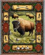SALE Buffalo Lodge Tapestry Throw