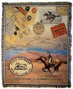Pony Express Tapestry Throw