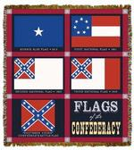 Confederate Flag Tapestry Throw