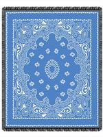 Blue Bandana Throw Blankets