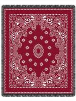 Red Bandana Throw Blankets