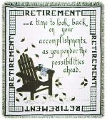 Retirement Throw Blanket