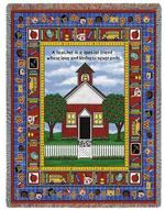 School Days Teacher Tapestry Throw