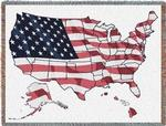 NEW USA Map Tapestry Throw