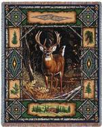 Deer Lodge Tapestry Throw