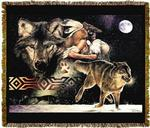 Native American Arapaho Tapestry Throw