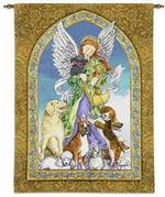 Angel of Dogs Tapestry Wall Hanging