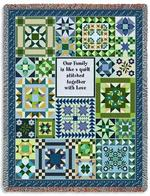 Cool Family Quilt Tapestry Throw