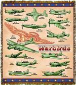 Warbirds Planes Tapestry Throw