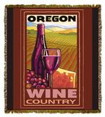Oregon Wine Country Tapestry Throw