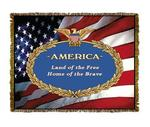 America Tapestry Throw