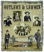 Outlaws And Lawmen Tapestry Throws