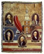 Founding Fathers Tapestry Throw