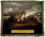 Surrender of Cornwallis Tapestry Throw