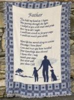 Father's Day Father Throw Blanket