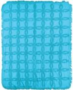NEW Color Turquoise Vintage Tufted CottonThrow