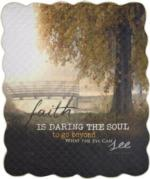 NEW Faith Is Daring The Soul Quilt Blanket
