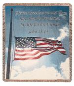 A Salute To Our Soldiers, John 15:13 Tapestry Throw