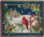 NEW Cardinals With Church Tapestry Throw