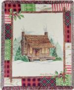 NEW Christmas Cabin Patch Tapestry Throw