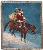 A Cowboy Christmas Tapestry Throw