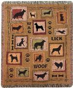 Dog to the Rescue Tapestry Throw