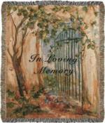 NEW In Loving Memory Gate Tapestry Throw