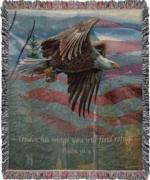 NEW Freedom, Psalm 91:4 May Tapestry Throw