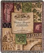 Old World Wine Tapestry Throw