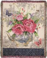 Tea Garden Tapestry Throw