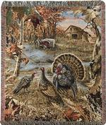 NEW Turkey Ranch Tapestry Throw