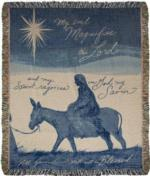 NEW Virgin Mary Silhouette Tapestry Throw