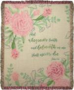 NEW And Whosoever Believeth in Me, John 11:26 Tapestry Throw