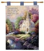 Church in the Country Tapestry Wall Hanging