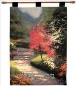 Afternoon Light Dogwood, Proverbs 3:6 Tapestry Wall Hanging