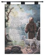 The Lord is My Shepherd, 23rd Psalm Tapestry Wall Hanging