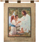 NEW Suffer The Little Children Luke 13:16 Tapestry Wall Hanging