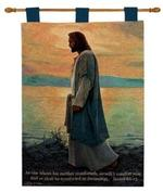 Walk With Me, Isaiah 66:13 Tapestry Wall Hanging