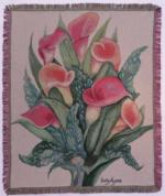NEW Calla Lily Tapestry Throw