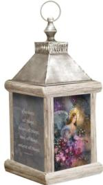 Angel of Love,1 Corinthians 13:7 Fiber Optic Lantern