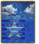 Air Force Psalm 89:6 Tapestry Throw